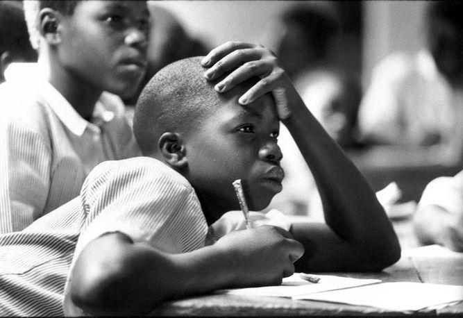 Attentive child, Luwero Boarding + Day School, Luwero, Uganda