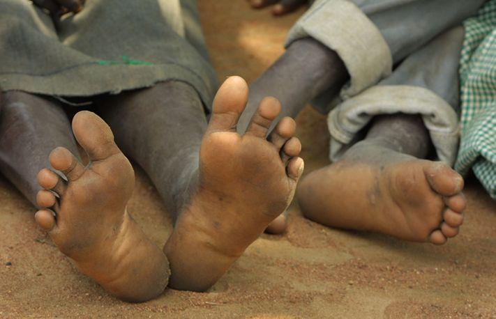 Feet in the soil, Kajo Keji County, Southern Sudan